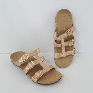 {Vionic} Misa Rose Gold Slide Sandals 10